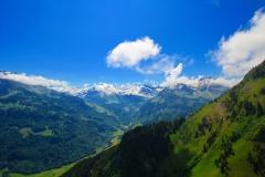 Wolfenschiessen. Blick Richtung Titlis und Engelberg