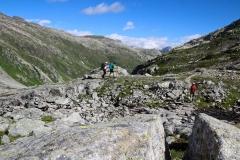 Alex, Murxi und Judith beim Aufstieg