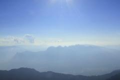 Blick Richtung Rheintal mit Alvierkette