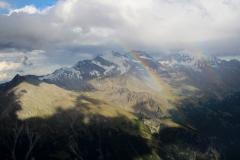 Fletschhorn, Weissmies in den Wolken