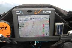 Cockpit. Endanflug nach Fiesch.