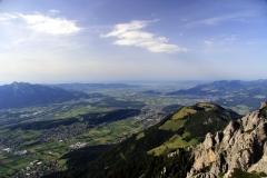 Blick Richtung Rheintal mit Bodensee
