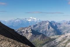 Im  Hintergund: Mount Blanc Massiv